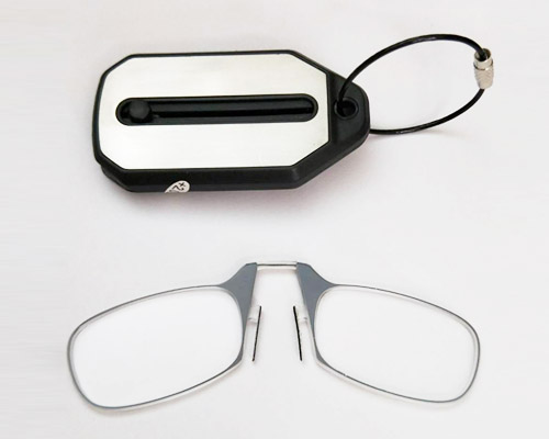 Mini Keychain Nose Clip Reading Glasses